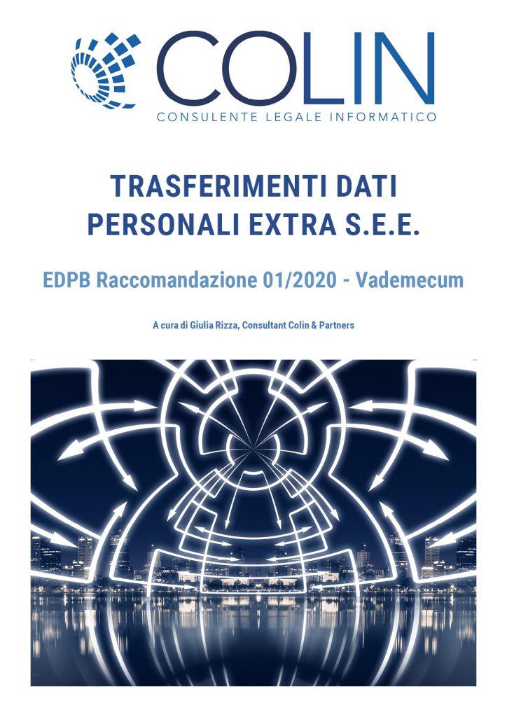 White Paper Colin: Raccomandazione EDPB 1/2020